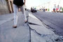 Sidewalk in Upheaval, Marina district, Loma Prieta Earthquake (1989), 1980's, DAEV02P01_18