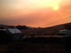 Early Morning Smoke Cloud, Sun, Sonoma County Fires of October 2017, DAFD11_145