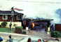 Burning Garage, driveway, Point Loma, Loma Portal, Willow Street, San Diego, 1960's