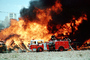 Fire, Thick Black Smoke, Mission Bay, San Francisco, Seagrave Truck, Fire Engine, Flames from hell, DAFV02P03_17