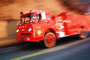 Ford firetruck, flashing lights, Forest Fire, DAFV03P08_17