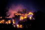 Home, Residential House, Great Oakland Fire, California, flashing lights, DAFV04P05_09