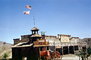 Firehouse, flags, building, Horse-drawn Steam Pumper, Pump, Calico Fire Dept., California, water tender, DAFV04P13_16