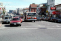 flashing lights, Fire Engine, cars, shops, stores, buildings, DAFV07P01_01