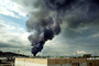 Standard Oil Refinery Fire, Chevron, Thick Black Smoke, Richmond, California, DAFV07P04_06