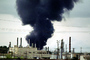 Standard Oil Refinery Fire, Chevron, Thick Black Smoke, Richmond, California, DAFV07P04_09