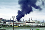 Standard Oil Refinery Fire, Chevron, Thick Black Smoke, Richmond, California