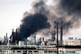 Standard Oil Refinery Fire, Chevron, Thick Black Smoke, Richmond, California, DAFV07P05_06