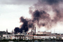 Standard Oil Refinery Fire, Chevron, Thick Black Smoke, Richmond, California, DAFV07P05_07