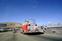 Fire Truck, Highway 101, Burlingame, San Bruno Mountain, DAFV07P09_04