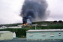 Thick Black Smoke, Burning Barracks, USN, Navy Base, Adak Alaska, DAFV09P02_08