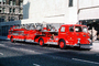 Hook and Ladder, Fire Truck, Pirsch Firetruck, L.F.D., Aerial-1, Louisville, Kentucky, 1978, 1970's