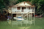 Flooded Building, Home, House, Balcony, Car, Guerneville, DASV01P07_16