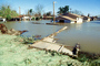 Flooded suburban neighborhood, Homes, Houses, Northern California, DASV02P01_16