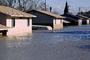 Flooded suburban neighborhood, Homes, Houses, Northern California, DASV02P02_02