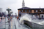 The Embarcadero, Waves splashing, Flooded Street, sidewalk, DASV05P01_02