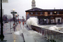 The Embarcadero, Waves splashing, Flooded Street, sidewalk, DASV05P01_05