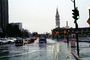The Embarcadero, Waves splashing, Flooded Street, sidewalk, cars, DASV05P01_13