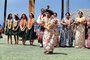 Women Dancing, Leis, dress, string bass, Hawaii, Hula