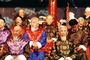 Men, beards, facial hair, costumes, male, Naxi Musicians, Lijiang, China, EMAV02P01_12