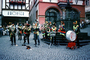 Oktoberfest Band Concert, Oompa Band, Bernkastel-Kues, on the Middle Moselle, Bernkastel-Wittlich, Rhineland-Palatinate, Germany, Trombones, Tuba, Trumpet, Clarinet, Drum, Oom-pah, Oompah or Umpapa, EMAV02P02_19