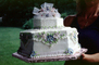 Wedding Cake, Sweet, Sugar, Hexagon, Flowers, Decorations, Flowery, FDNV02P05_14