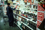 Wine, Liquor, Bottles, Shelves, Grocery Store, Supermarket, FGNV01P04_04