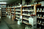 Wine, Liquor, Bottles, Shelves, Grocery Store, Supermarket, racks full of bottles, Supermarket Aisles, FGNV01P04_06