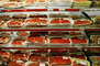 Wrapped, Packaging, Racks, Meat Aisle, Grocery Aisle, Supermarket, FGNV01P08_17