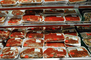 Wrapped, Packaging, Racks, Meat Aisle, Grocery Aisle, Supermarket, FGNV01P08_18