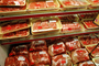 Plastic Wrap, Wrapped, Packaging, Racks, Meat Aisle, Grocery Aisle, Supermarket, FGNV01P08_19