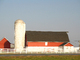 Barn and Silo, Fence, south of Dover, Delaware, FMND01_157