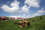 Tractor, Cows, clouds, barns, FMND03_141