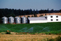 Silos, Barn, field, sprinklers, irrigation, water, building, Dirt, soil, FMNV03P10_01