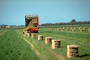 New Holland Stacker, Hay Bales, Stacking, Farmer