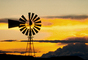 Eclipse Windmill, Irrigation, mechanical power, pump, sunset, FMNV06P04_12