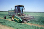 Hay Swather, Cutter, Harvest, John Deere, 4890 Self-Propelled Windrower, Self Propelled, Rotary Cutter, combine, Field, Central Valley, Windrower