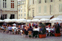 Outdoor Cafe, Parasol, Umbrella, tables, people, Avignon, FRBV04P14_02