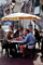 Outdoor Cafe, table, people, parasol, umbrella, FRBV04P14_10