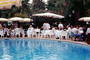 Poolside, Outdoor Cafe, table, people, parasol, umbrella, FRBV04P14_13