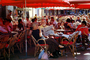 Outdoor Cafe, table, people, parasol, umbrella, FRBV04P15_10