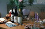 Wine Bottles, Cheese, Bread, Candles, Corkscrew, corker, bottle opener, cork, FTBV01P05_09