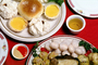 rolls, bread, pot sticker, chinese cooking, sweet and sour sauce, FTCV01P01_17