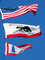 USA Flag, California State Flag, Lighthouse Flag, Fifty State Flags, GFLD01_007