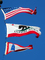 USA Flag, California State Flag, Lighthouse Flag, Fifty State Flags, GFLD01_008