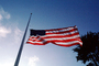 Half Mast, Old Glory, USA, United States of America, Star Spangled Banner, GFLV01P04_10