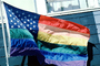 Rainbow Flag, United States of America, American, USA, Fifty State Flags, GFLV01P12_16