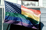 Rainbow Flag, United States of America, American, USA, Fifty State Flags, GFLV01P12_18