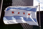 City of Chicago Flag, Windy, Windblown, GFLV03P08_03
