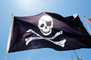 Jolly Roger Pirate Flag, Pirate, Skull and Crossbones, Bones, Windy, Windblown, GFLV03P08_16